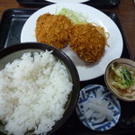 食堂 伊賀 - メンチカツ定食