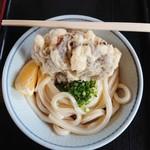 上野製麺所 - ぶっかけ(冷・小)と舞茸天