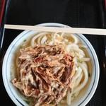 上野製麺所 - かけ(小)と牛蒡のかき揚げ