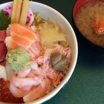 江戸前寿し食べ放題 漁師料理の店 うみめし - 「まかない丼」は味噌汁付き!