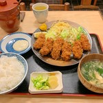 三朝 - カキフライ定食