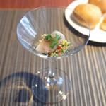 ロビーカフェ - 前菜のキヌアのタブレ