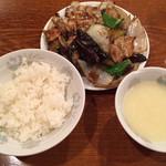 仙香園 - 〈D〉セット ナスと豚肉炒め