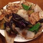 仙香園 - ナスと豚肉炒め