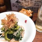 立ち飲み 竜馬 - ゴーヤサラダ