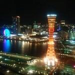神戸牛炉窯焼ステーキ 雪月風花 北野坂 - ホテルの部屋からの夜景