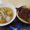 つきみが丘町民センター - 料理写真:ミニラーメン・ミニソースかつ丼セット