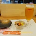 旬菜こまち - 生ビール小&お通し