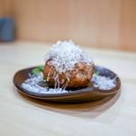 焼鳥 谷口 - ジャンボマッシュルーム 肉詰め 650円
