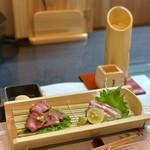 和食焼肉 和や - 造り 近江牛の刺身と鮮魚の刺身の饗宴