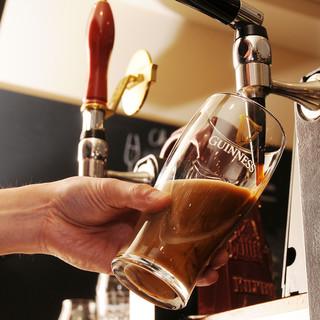 最高基準のギネス、クラフトビールは注文必須!全10TAP!