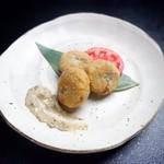 北信州の旬野菜たっぷりレストラン しんこきゅう - 【春の一押しメニュー】今だけ!ふきのとうを使ったふきみそコロッケ