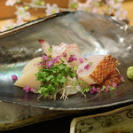 日本料理 太月 - 鹿児島鯛、千葉金目、平貝、本ミル貝