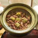 日本料理 太月 - ホタルイカ、蕗の薹のご飯