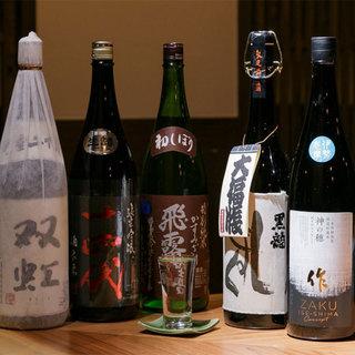 こだわりの日本酒を各種取り揃え