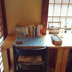 カレーと珈琲の店 ピリカ - 内観写真:窓際のカウンター席。