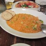 ピッツア ダ バッボ - 小エビとブロッコリーのトマトリゾット