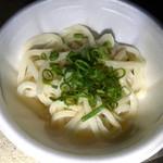 大西麺業 - 麺を楽しむしょうゆうどん。