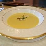 ステーキレストラン 勝 - スープ、かぼちゃ&コーン