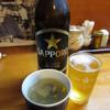 遠州屋本店 高尾 - 料理写真:瓶ビールとお通しの「しじみの吸物」