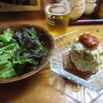 遠州屋本店 高尾 - 自家製トマトソースとポテトサラダ 380円