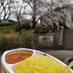 アイキッチン - マトンカレーご飯大盛テイクアウトで花見OK!