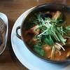 森の茶屋 糧 - 料理写真:濃厚魚介鍋・トマトスープ。
