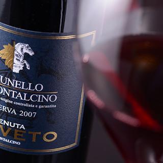 ソムリエ厳選のワインで、料理とのマリアージュを堪能