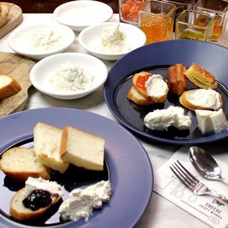 フレッシュチーズ食べ比べ・食べ放題ランチ
