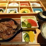 仙之助 - 仙ノ助ランチ1,380円・おばんざいと知多牛炙り焼き