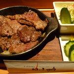仙之助 - 知多牛炙り焼きとサラダと御飯・味噌汁