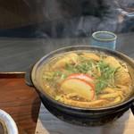 手打 やすえ - 料理写真:味噌煮込みうどん