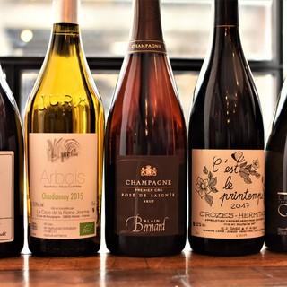 【オーナーシェフ自らが厳選】自然派ワインを中心としたワイン