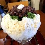 ナニワヤ・カフェ - 宇治金時ミルク白玉
