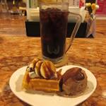 さぼてん - ドリンク+デザートセット 350円(税込)