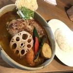 カイエン オルタナ - 料理写真:ホエー豚のハンバーグスープカレー(1,380円)