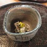 心根 - 小鉢 手作り蒟蒻 高槻椎茸 土筆 一休寺納豆 菜花