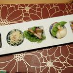 地方の肴とおもてなし 「庵」 - 前菜5種盛り