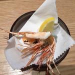 回転さかなや寿司・魚忠  - ボタン海老の頭を揚げて貰いました