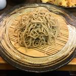 104673998 - 魚介天もり蕎麦(1750円、粗挽き十割蕎麦に変更+200円)