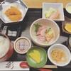 天ぷら 串割烹 なかなか 室屋 - 料理写真:カキフライと刺身定食(限定15食)