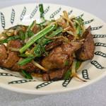 三味 - 料理写真:レバニラ炒めは絶品でしたね