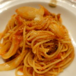 ピッツェリア・サバティーニ - 自家製牛肉のパンチェッタと新玉葱のアマトリチャーナ