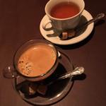 パスタ キッチン - ランチセットのコーヒーと紅茶('19/03/30)