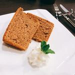 ティーハウス茶韻館 - シフォンケーキ
