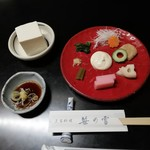 笹乃雪 - 料理写真:生盛膾と冷奴