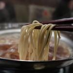 もつ屋 たらふく - もつ鍋〆の博多麺