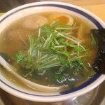 飛雄馬 - あっさり塩ラーメン+半熟j玉子