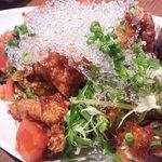 食彩にじ - 鶏唐揚げサラダ