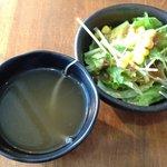 アーペ和茶カフェ - スープとサラダ